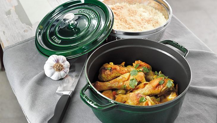 STAUB recipe Moroccan Chicken