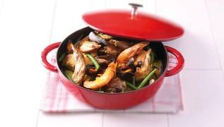 STAUB recipe Paella Valencia