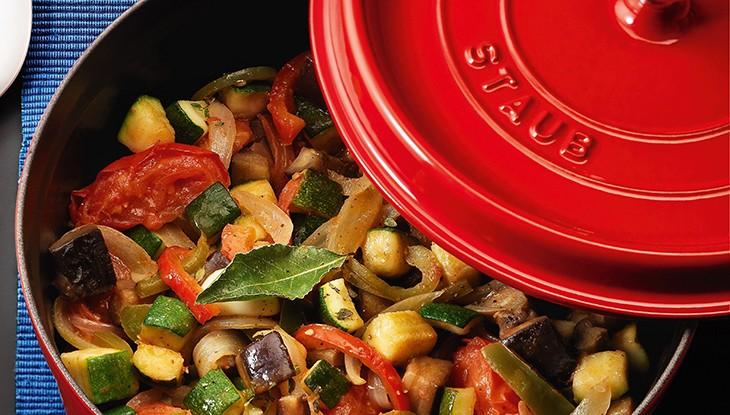 STAUB recipe Ratatouille Mint chef