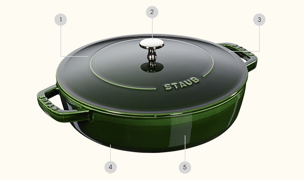 Shallow roasting pan - STAUB technology in a new design