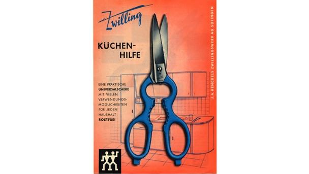 anuncio de tijeras ZWILLING Küchenhilfe
