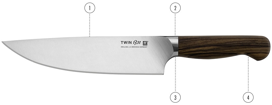 twin 1731 kitchen knives zwilling j a henckels. Black Bedroom Furniture Sets. Home Design Ideas